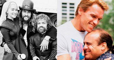 Jason Momoa quer remake de 'Irmãos Gêmos' com Peter Dinklage